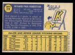 1970 Topps #229  Rich Robertson  Back Thumbnail