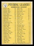 1970 Topps #70 COR AL Pitching Leaders  -  Dave Boswell / Muke Cuellar / Dennis McLain / Dave McNally / Jim Perry / Mel Stottlemyre Back Thumbnail