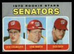 1970 Topps #599  Senators Rookie Stars  -  Gene Martin / Dick Stelmaszek / Dick Such Front Thumbnail