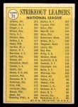 1970 Topps #71  1969 NL Strikeout Leaders  -  Bob Gibson / Fergie Jenkins / Bill Singer Back Thumbnail