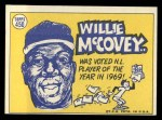1970 Topps #450  All-Star  -  Willie McCovey Back Thumbnail