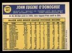 1970 Topps #441   John O'Donoghue Back Thumbnail