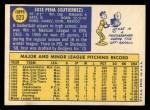 1970 Topps #523   Jose Pena Back Thumbnail