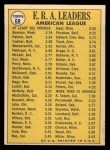1970 Topps #68   -  Dick Bosman / Mike Cuellar / Jim Palmer AL ERA Leaders Back Thumbnail