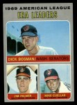 1970 Topps #68   -  Dick Bosman / Mike Cuellar / Jim Palmer AL ERA Leaders Front Thumbnail