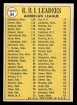 1970 Topps #64  1969 AL RBI Leaders  -  Reggie Jackson / Harmon Killebrew / Boog Powell Back Thumbnail
