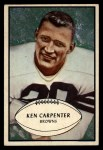 1953 Bowman #92   Ken Carpenter Front Thumbnail