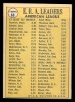 1970 Topps #68  AL ERA Leaders  -  Dick Bosman / Mike Cuellar / Jim Palmer Back Thumbnail