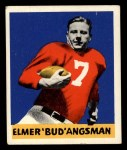 1948 Leaf #25 BLK Bud Angsman  Front Thumbnail