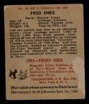 1948 Bowman #98  Fred Enke  Back Thumbnail