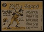1960 Topps #564  All-Star  -  Willie Mays Back Thumbnail