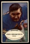 1953 Bowman #75   John Kreamcheck Front Thumbnail
