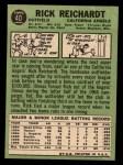 1967 Topps #40 COR  Rick Reichardt Back Thumbnail