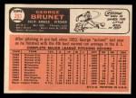 1966 Topps #393  George Brunet  Back Thumbnail