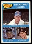 1965 Topps #10  NL Pitching Leaders  -  Larry Jackson / Juan Marichal / Ray Sadecki Front Thumbnail