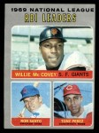 1970 Topps #63  NL RBI Leaders  -  Willie McCovey / Tony Perez / Ron Santo Front Thumbnail