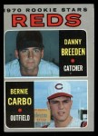 1970 Topps #36  Reds Rookies  -  Danny Breeden / Bernie Carbo Front Thumbnail