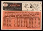 1966 Topps #399   Ray Washburn Back Thumbnail