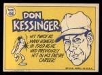 1970 Topps #456   -  Don Kessinger All-Star Back Thumbnail