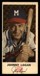 1954 Johnston Cookies #23  Johnny Logan  Front Thumbnail