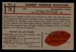 1953 Bowman #79  Bob Walston  Back Thumbnail
