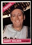 1966 Topps #318   Harry Walker Front Thumbnail