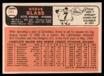 1966 Topps #344   Steve Blass Back Thumbnail