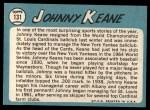 1965 Topps #131   Johnny Keane Back Thumbnail