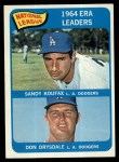 1965 Topps #8   -  Don Drysdale / Sandy Koufax NL ERA Leaders Front Thumbnail