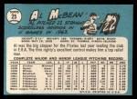 1965 Topps #25   Al McBean Back Thumbnail