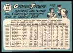 1965 Topps #83   George Thomas Back Thumbnail