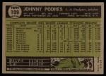 1961 Topps #109   Johnny Podres Back Thumbnail