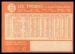 1964 Topps #255   Lee Thomas Back Thumbnail