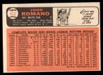 1966 Topps #413   John Romano Back Thumbnail