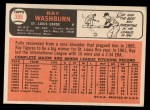 1966 Topps #399   Ray Washburn Back Thumbnail