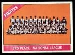 1966 Topps #404 ^COR^  Pirates Team Front Thumbnail