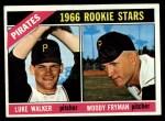 1966 Topps #498   -  Woody Fryman / Luke Walker Pirates Rookies Front Thumbnail