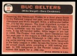 1966 Topps #99  Buc Belters  -  Willie Stargell / Donn Clendenon Back Thumbnail
