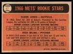 1966 Topps #67  Mets Rookies  -  Cleon Jones / Dick Selma Back Thumbnail