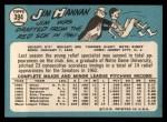 1965 Topps #394  Jim Hannan  Back Thumbnail