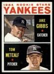 1964 Topps #281   -  Jake Gibbs / Tom Metcalf Yankees Rookies Front Thumbnail