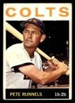 1964 Topps #121 COR Pete Runnels  Front Thumbnail