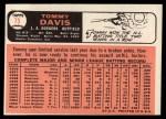 1966 Topps #75  Tommy Davis  Back Thumbnail