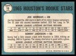 1965 Topps #16  Houston Rookies  -  Joe Morgan / Sonny Jackson Back Thumbnail