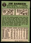 1967 Topps #76   Jim Barbieri Back Thumbnail