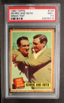 1962 Topps #140 GRN  -  Babe Ruth / Lou Gehrig Gehrig and Ruth Front Thumbnail