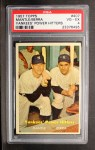 1957 Topps #407  Yankees' Power Hitters  -  Mickey Mantle / Yogi Berra Front Thumbnail