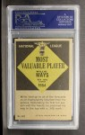 1961 Topps #482  Most Valuable Player  -  Willie Mays Back Thumbnail