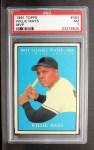 1961 Topps #482  Most Valuable Player  -  Willie Mays Front Thumbnail