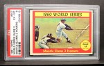 1961 Topps #307   -  Mickey Mantle 1960 World Series - Game #2 - Mantle Slams 2 Homers Front Thumbnail